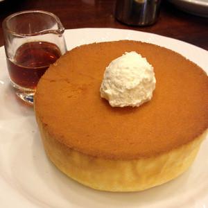 ふわっふわのスフレパンケーキ!